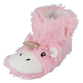 Spot On Childrens Unicorn Bootee Slippers - X2111