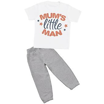 Mum's Little Man - T-Shirt with Grey Joggers - Baby / Kids Outfit