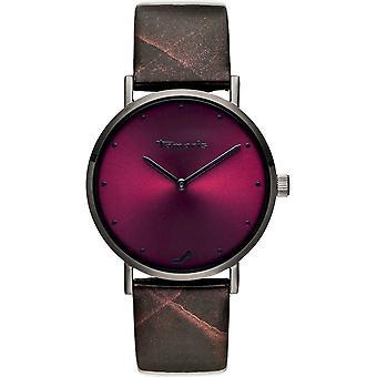 Tamaris - Wristwatch - Bruna - DAU 36mm - grey - TW074 - anthracite wine red