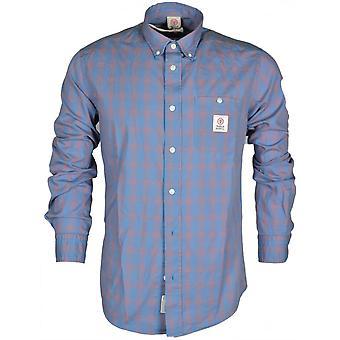 Franklin & Marshall Mf305 Van Check Sunset Blue Shirt