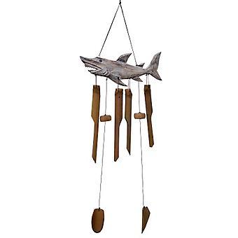 Carillon de vent de bambou de requin