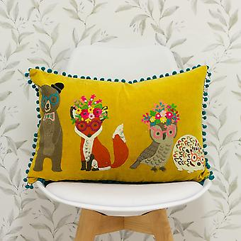 Riva Home Woodland Friends Rectangular Feather Filled Cushion
