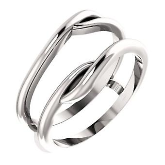 14k White Gold Ring Guard Size 6.5 Jewelry Gifts for Women - 4.0 Grams