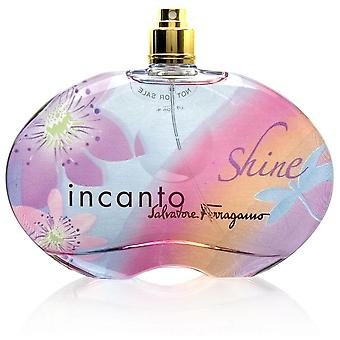Incanto Shine av Salvatore Ferragamo för kvinnor 3,4 oz Eau de Toilette Spray (testare ingen mössa)
