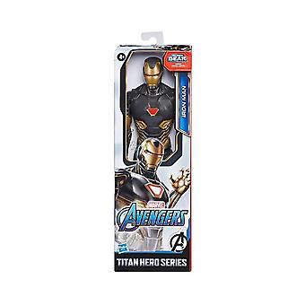 Marvel Avengers Iron Man Black/Gold Endgame Titan Hero 12 Inch Action Figure