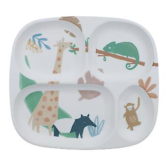 Sebra - melamine plate - 4 rooms - wildlife