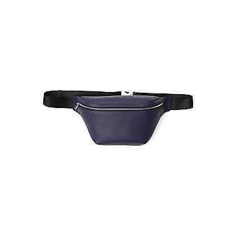 Fendi 7va434a9zcf18yj Män's Blue Leather Pouch