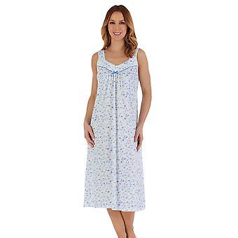 スレンダーラ ND55105 ウィメンズ&アポス;フローラル コットン ナイトドレス
