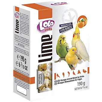Lolo Lolo Bloque Lima Naranja Loros 190G (Birds , Supplements)