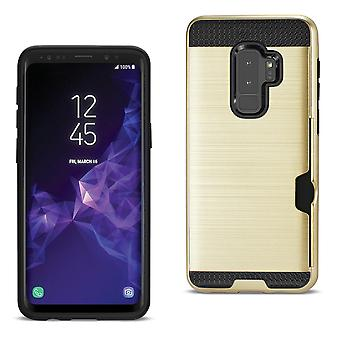 Reiko Samsung Galaxy S9 Plus Hybrid Case With Card Holder In Gold