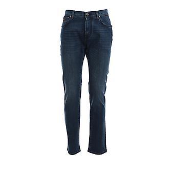 Corneliani 854jd20120156005 Men's Blue Cotton Jeans
