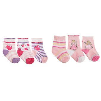 बेबी लड़कियों फल/परी डिजाइन सीप छांटो मोज़े (3 के पैक)