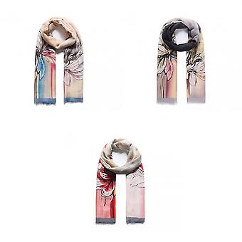Intrigue Womens/Ladies Satin Effect Floral Print Scarf