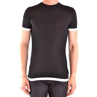 Neil Barrett Ezbc058079 Männer's schwarze Viskose T-shirt