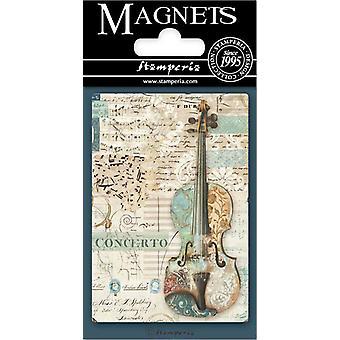 Stamperia Musiikki Viulu 8x5.5cm Magneetti
