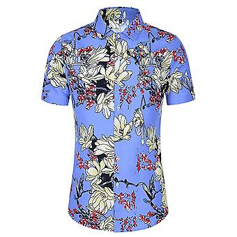Allthemen Men's Printed T-shirts Hawaiian Summer Beach Tops