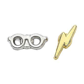Harry Potter Lightning Bolt et Glasses Stud Boucles d'oreilles