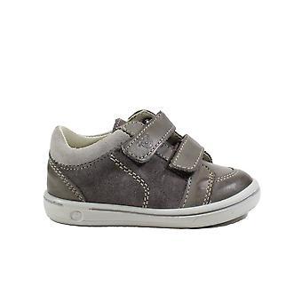 Ricosta Timmy 2622000-461 Gris Cuero Niños Rip Zapatos de Cinta
