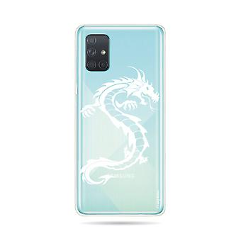 Hull For Samsung Galaxy A71 Soft Dragon White