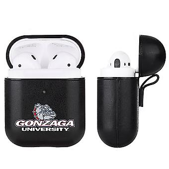Gonzaga Bulldogs NCAA Fan Brander Zwart lederen AirPod Case
