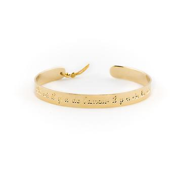 7 mm Jonc Ley Nat 'quot;L o there is love there is life';