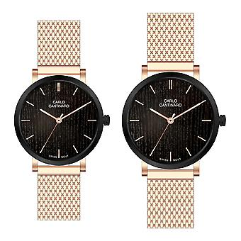 Carlo Cantinaro CC3001SM002 Partner Set Women's Watch Men's Watch