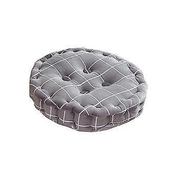 Four nail crystal velvet lattice printed round cushion