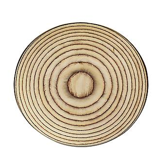 Round Mat Wood grain pattern non-slip