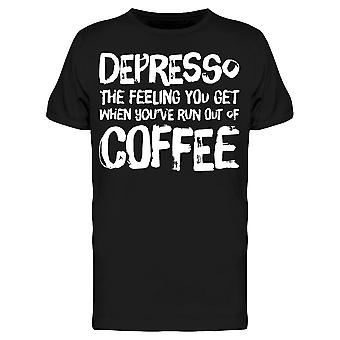 Lustige Depresso Kaffee Depression Tee Men's -Bild von Shutterstock