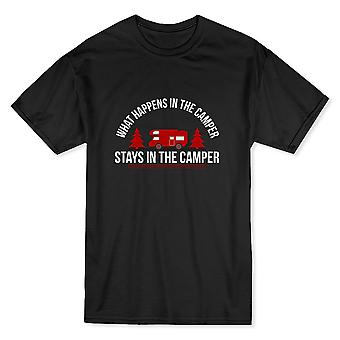 """What Happens In The Camper Stays In The Camper""Quote Men's T-shirt"