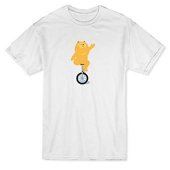 Söt Circus-hund-Monocycle grafisk mäns T-shirt
