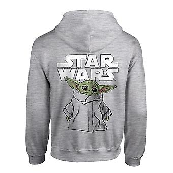 Star Wars The Mandalorian The Child Sketch Mænd's Pullover Hoodie | Officielle merchandise