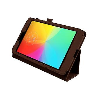 "Magnetic PU Leather Case Cover for LG G Pad 8.0 V480 8""[Brown]"