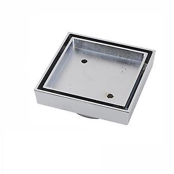115X115 Mm Square Brass Chrome Smart Floor Waste Shower Grate Drain