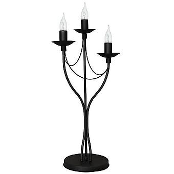 Lampada da Tavolo Lilium Colore Nero in Metallo, L27xP27xA63 cm