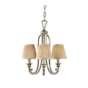 Abbey Pendant Lamp, 3 Bulbs, With Lampshade