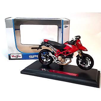 Maisto Special Edition Motocykl 1:18 Ducati Hypermotard 1100S Czerwony