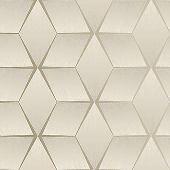 Textured Geometric Wallpaper Taupe Rasch 310603