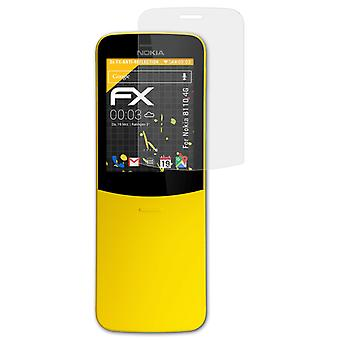 atFoliX Glass Protector compatible with Nokia 8110 4G Glass Protective Film 9H Hybrid-Glass