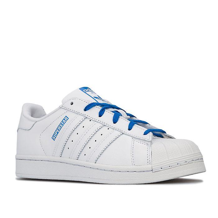 Boy's Adidas Originals Junior Superstar Trainers In White