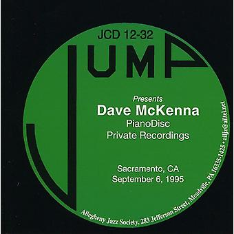 Dave McKenna - Pianodisc Private Recordings [CD] USA import