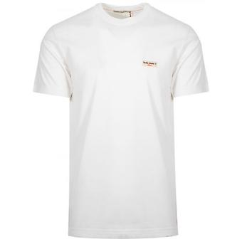 Nudie Jeans Daniel Off-White Logo T-Shirt