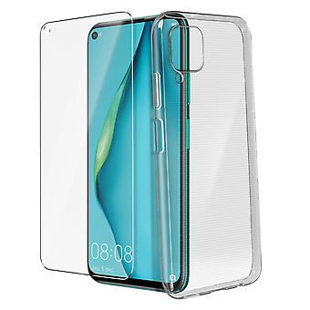 Huawei P40 Lite Hard Cover and 9H Tempered Glass Screen protector 4Smarts clear