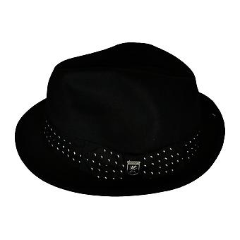 Stacy Adams UltraFelt Pinch Front Fedora Black Hat
