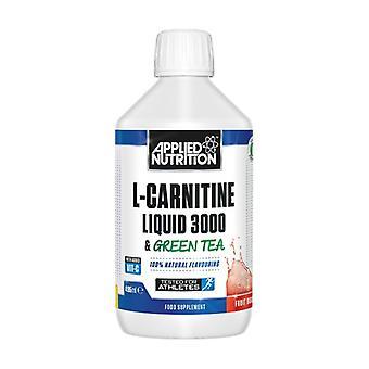 L-Carnitine Liquid 3000 & Green Tea, Sour Apple 495 ml