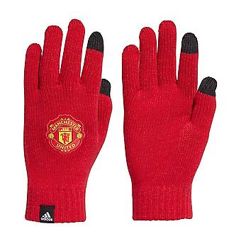 2020-2021 Man Utd Adidas Gloves (Red)
