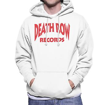 Death Row Records Logo rood mannen de Hooded Sweatshirt