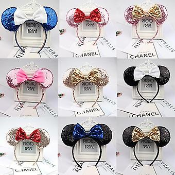 3d, Lantejoulas Completas, Minnie Mouse Ears-bow Headband