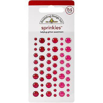 Doodlebug Design Nyckelpiga Glitter Strössel (54st) (4535)