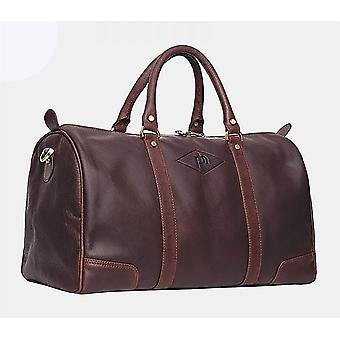 Primehide Mens Leather Travel Holdall Weekend Overnight Gym Duffle Bag Gents 734